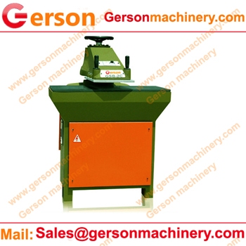 swing arm press for leather die cutting